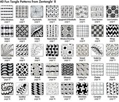 Zentangle 8, Monograms, Alphabets and 40 New Tangles by Suzanne McNeill