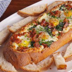 Cheesy Breakfast Boat