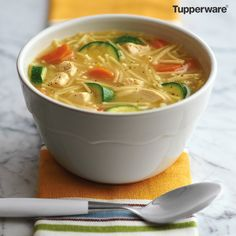 Tupperware Chicken Noodle Soup (directions in comments)