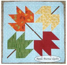 Apple Avenue Quilts: Free 2012 Block of the Month printable fabric requirements, pattern, instructions