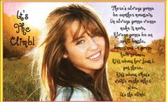 Miley Cyrus... people may say she is a joke but they are saying it from their crappy apartments before they go to their dead end jobs... she had a dream and she accomplished it at a young age. i dont understand why people are so critical of celebrities when they themselves have no idea who they are, just what they read in magazines... just think before you speak is all i am trying to say. people have no clue how it impacts others.