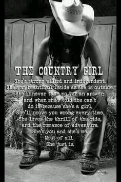 Thank God I'm a country gal!!