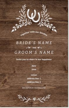 Design wedding invitations with Vistaprint! With hundreds of wedding invitation templates to choose from, there's something to suit all wedding themes and styles. Design your wedding invites now! Beautiful Wedding Invitations, Custom Wedding Invitations, Wedding Invitation Templates, Wedding Stationery, Invites, Wedding Reception Planning, Wedding Ceremony Programs, Wedding Menu Cards, Wedding Ideas