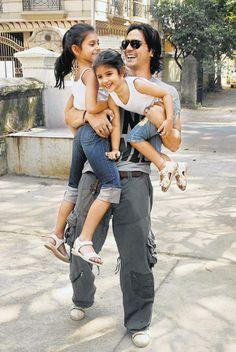 Arjun Rampal playing with his kids