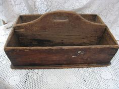 wooden tool caddy rustic caddy wooden basket by rivertownvintage, $94.95