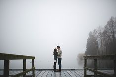 foggy engagement session, winter engagement style, blanket, engagement at the docks, lace dress, cardigan, knit sweater