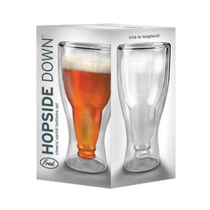 Hopside Down Beer Glassnow featured on Fab