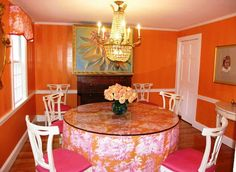 orange and pink rooms | Pink Orange Dining Room Ideas Orange Dining Room Ideas Creates ...