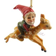 gnome on a deer