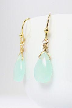 Mint Gold Earrings Mint Earring Mint Earings