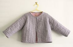 hand quilted toddler jacket