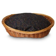Snoozer Wicker Dog Basket and Bed, Small, Paisley - http://petproduct.reviewsbrand.com/snoozer-wicker-dog-basket-and-bed-small-paisley.html