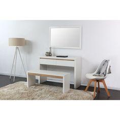 coiffeuse design d 39 angle coloris blanc et noir rivage angles et design. Black Bedroom Furniture Sets. Home Design Ideas