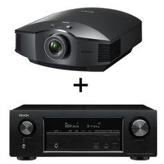 CONJUNTO DE RECEPTOR A/V AVR1300 DE DENON + VIDEOPROYECTOR HW65 DE SONY. Receptor A/V en red de 7 x 145 W Full 4K Ultra HD con Wi-Fi y Bluetooth. Ligero, compacto y fácil de instalar, el VPL-HW65ES encaja perfectamente en cualquier cine en casa o sala de estar; además, cuenta con un ventilador muy silencioso que no molesta durante la reproducción y un puerto de ventilación frontal para una mayor versatilidad de instalación. #receptor #Denon #videoproyector #Sony