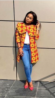 African fashion with jeans, African fashion, Ankara, kitenge, African women dresses, African prints, African men's fashion, Nigerian style, Ghanaian fashion, ntoma, kente styles, African fashion dresses, aso ebi styles, gele, duku, khanga, krobo beads, xhosa fashion, agbada, west african kaftan, African wear, fashion dresses, african wear for men, mtindo