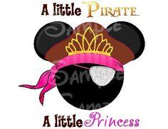 Pirate Princess DIGITAL printable Mickey head file DIY