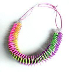 Fimo Halskette Girlande von Silvia Ortiz de la Torre auf DaWanda.com