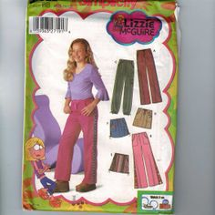 Items similar to Kids Sewing Pattern Simplicity 5322 Girls Lizzie McGuire Pants and Skirt with Trim Variations Size 8 10 12 14 16 Half SizeUNCUT 99 on Etsy Sewing Patterns For Kids, Simplicity Sewing Patterns, Sewing For Kids, Baby Sewing, 2000s Fashion, Kids Fashion, 2000s Trends, Zoey 101, Lizzie Mcguire