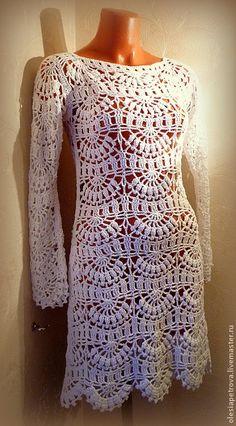 Купить Платье Бисквит - белый, платье повседневное, платье летнее, Платье осеннее, платье коктейльное