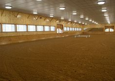 The large indoor arena! With built in speakers and water systems!