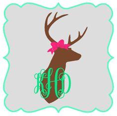 Deer Bow Decal
