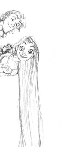 Living Lines Library: Tangled (2010) - Characters: Rapunzel & Flynn
