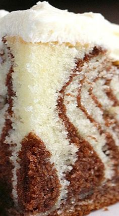 Zebra Cake with White Chocolate Buttercream