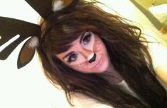 cute halloween makeup... Most definately going as a deer Ryder is going as a hunter!