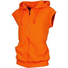 Angel Cola Men's Sleeveless Hoodie Zip Up Cotton Vest Orange S at... ($17) ❤ liked on Polyvore featuring men's fashion, men's clothing, men's apparel, organic cotton men's clothing and mens clothing
