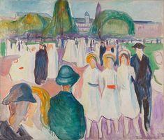 Promenade in Spring 1917 / Oil on canvas / 120 x 140,5 cm Munch Museum