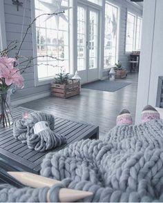 Swedish Interiors, Merino Wool Blanket, Fixer Upper, Villa, Windows, Living Room, Bed, Inspiration, Cottages