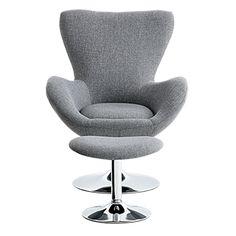 Divan sectionnel en tissu gris | Brault & Martineau Egg Chair, Armchair, Lounge, Furniture, Home Decor, Grey Fabric, Sofa Chair, Airport Lounge, Single Sofa