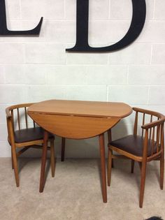 vintage classic round drop leaf dining table - Dining Table 2 Seater