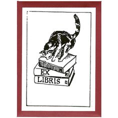 Cat on Books Bookplates: are you tired of lending out books and never seeing them again? Make sure your books find their way home again with these beautiful bookplates.