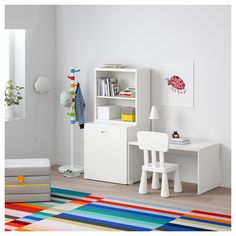 STUVA / FRITIDS Table with toy storage, white, light blue, The perfect play area for small children – open shelves for books, a toy box on wheels and a table with space for crafts. Kids Storage Furniture, Playroom Furniture, Playroom Storage, Cube Storage, Toy Storage, Diy Furniture, Playroom Decor, Playroom Seating, Minecraft Furniture