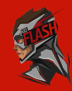 This HD wallpaper is about Kid Flash illustration, superhero, DC Comics, red background, Original wallpaper dimensions is file size is Kid Flash, Flash Art, Marvel Vs, Marvel Dc Comics, Flash Wallpaper, Mobile Wallpaper, Dc Characters, Dc Heroes, Red Background