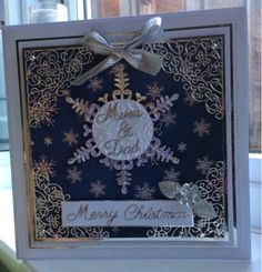 Cards by Brawny: Silver Snowflake