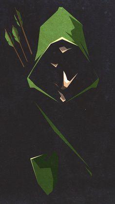 Iphone green arrow wallpaper