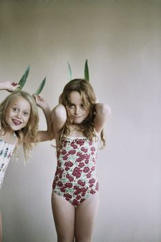b8273c0cd6b3d Lil Buckeroo ♥s bunny ears and vintage swimwear.