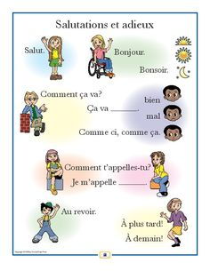 French Greetings Poster