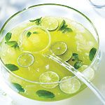 Mojito Punch Ingredients 2 cups (500 mL) mint leaves 2 cans (each 250 mL) frozen Bacardi mixers margarita mix 3-1/2 cups (875 mL) soda water 1 bottle (750 mL) white rum 3 limes, sliced 3 cups (750 mL) ice cubes Preparation In blender, purée mint leaves, margarita mix and 1 cup (250 mL) water. Strain through cheesecloth-lined sieve into punch bowl. Add soda water, rum, limes and ice cubes.
