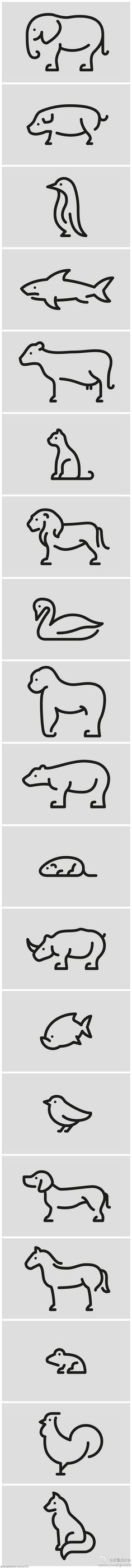 Animal Pictograms by Jan Filek, via Behance: