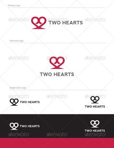 Two Hearts Logo Design