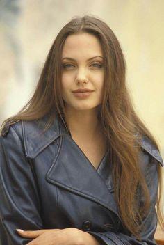 Dark hair jolie angelina black