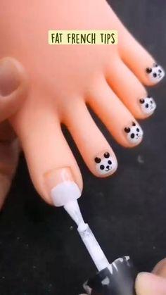 Baby Nail Art, Nail Art For Kids, Baby Nails, Panda Nail Art, Toe Nail Art, Trendy Nail Art, Stylish Nails, Gel Nails, Acrylic Nails