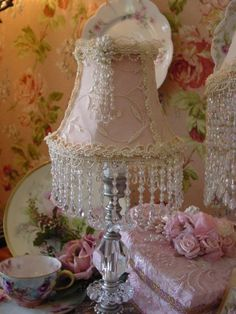 """I guess they call all this """"shabby chic""""...:p  I thought it was just wonderful"""