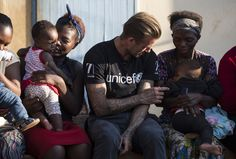 """Pin for Later: David Beckham Bonds With Children During His """"Inspiring"""" Visit to Africa"""