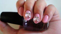 2 pcs of light pink lady bug nail charm by GlamourFavor on Etsy