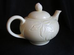 Vintage Teapot Pottery Pale Yellow Rose Design by BeasAtticbyLisa on Etsy