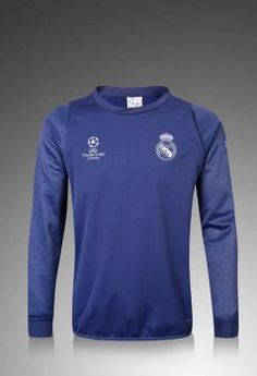 Real Madrid C.F 2016-17 Season Blue UCL Soccer Sweater [I838]